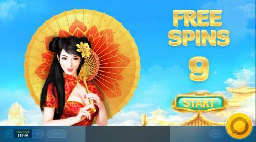 Golden Lotus Review Slots Player is awarded 9 free spins.