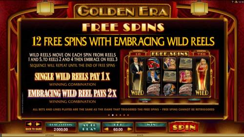 Golden Era Review Slots Free Spins - 12 Free Spins with embracing Wild Reels