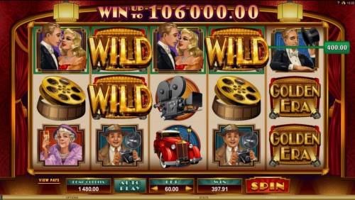 Golden Era Review Slots Another Big Win triggered by WILD symbols triggering multiple winning paylines.