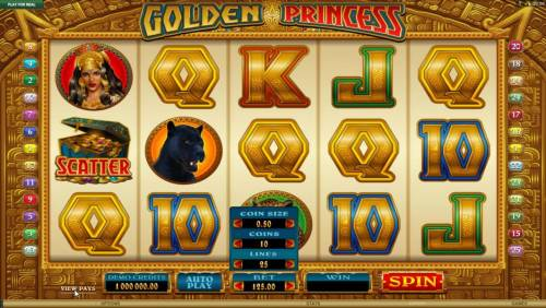 Golden Princess Review Slots You can change the betting optin by clicking on BET to change the coin size, coins per line and number of paylines