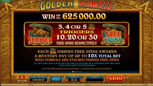 Golden Princess Review Slots Scatter and wild symbols pays