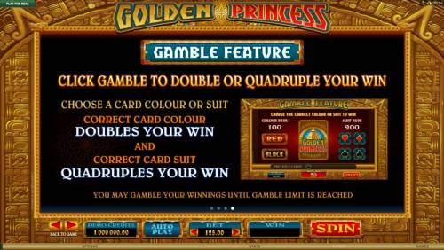 Golden Princess Review Slots Gamble Feature Games Rules