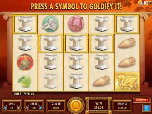 Goldify Review Slots A pair of a Five of a Kind leads to a big pay out.