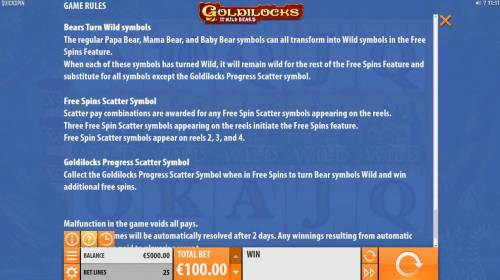 Goldilocks and the Wild Bears review on Review Slots