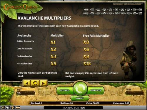 Gonzo's Quest Review Slots Gonzo's Quest slot game avalanche multipliers
