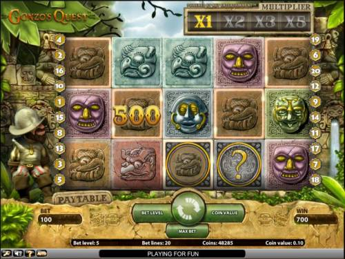 Gonzo's Quest Review Slots Gonzo's Quest slot game 700 coin jackpot