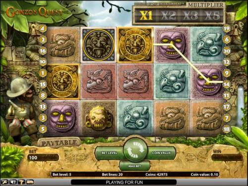 Gonzo's Quest Review Slots Gonzo's Quest slot game bonus round triggered