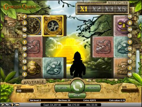 Gonzo's Quest Review Slots Gonzo's Quest slot game beginning of the bonus round