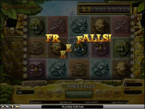 Gonzo's Quest Review Slots Gonzo's Quest slot game free spins feature triggered