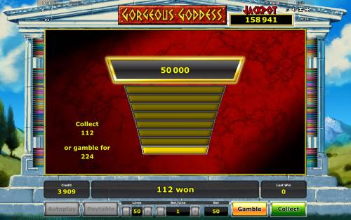 Gorgeous Goddess Review Slots Ladder Gamble Feature Game Board