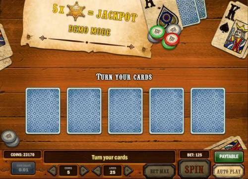 Gunslinger Review Slots turn your cards bonus feature game board
