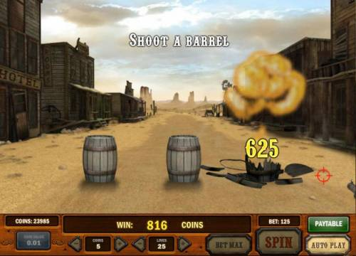 Gunslinger Review Slots 625 coins paid out. nice shooting
