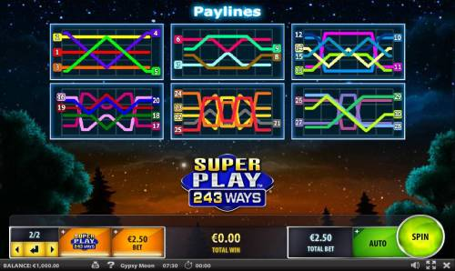 Gypsy Moon Review Slots Payline Diagrams 1-30