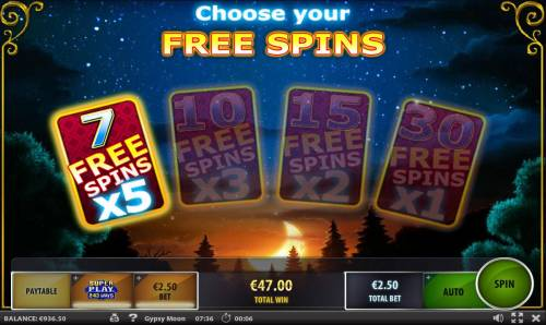 Gypsy Moon Review Slots For the bonus round we are selecting the 7 free spins with an x5 multiplier.