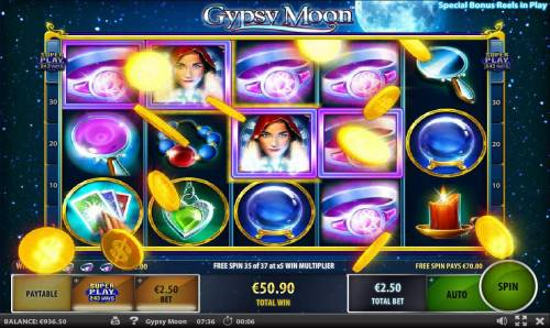 Gypsy Moon Review Slots Multiple winning paylines triggers a big win!