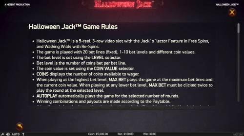 Halloween Jack review on Review Slots