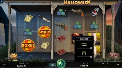 Halloween Review Slots Betting Options