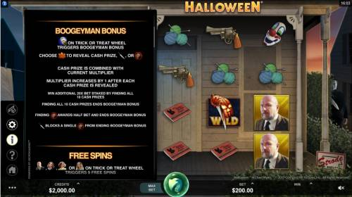 Halloween Review Slots Boogeyman Bonus Rules