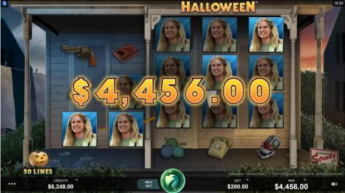 Halloween Review Slots Multiple winning paylines triggers a big win!