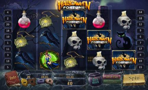 Halloween Fortune Review Slots main game board