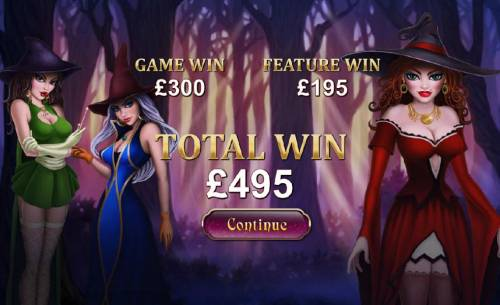 Halloween Fortune Review Slots 495 coin bonus round jackpot payout