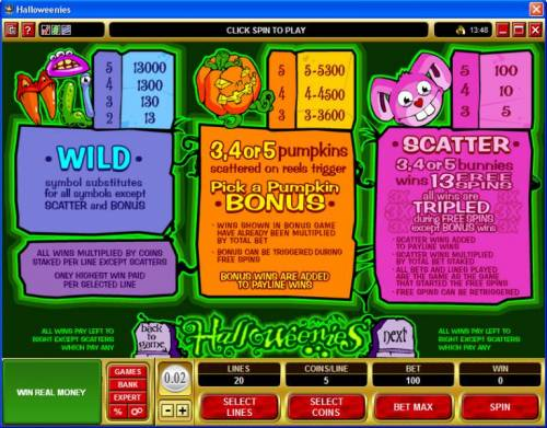 Halloweenies review on Review Slots