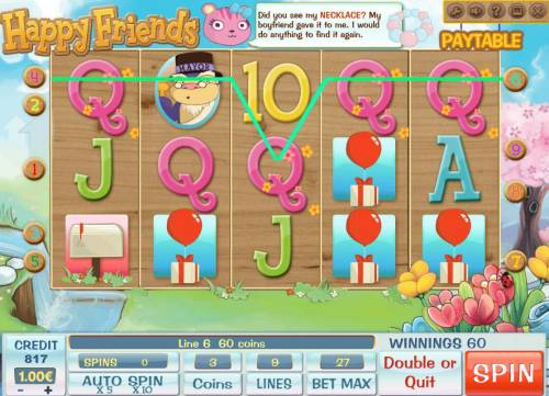 Happy Friends Review Slots A winning Five of a Kind.