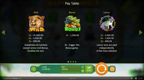 Happy Jungle Review Slots Wild and Scatter Symbol Rules