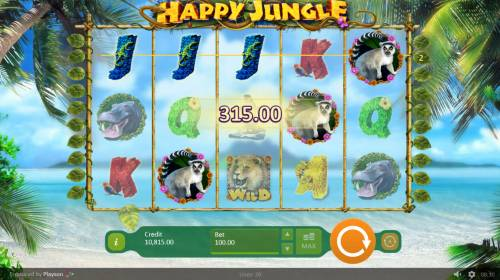 Happy Jungle Review Slots A winning three of a kind