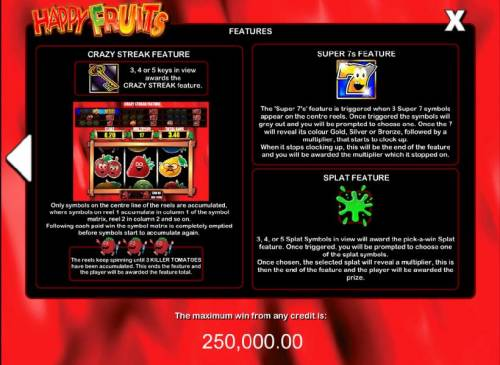 Happy Fruits Review Slots how to play bonus features