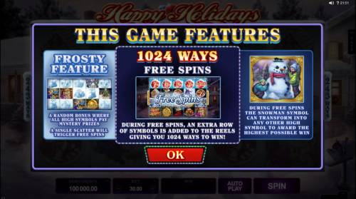 Happy Holidays review on Review Slots