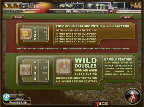 Happy Valley Review Slots scatter, wild and gamble feature rules and paytables