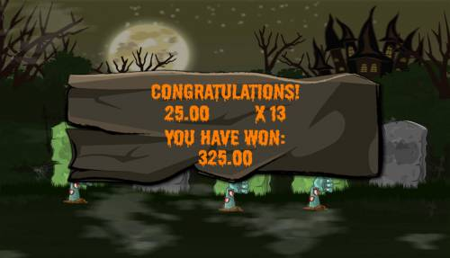 Haunted Review Slots Bonus feature pays 325 credits