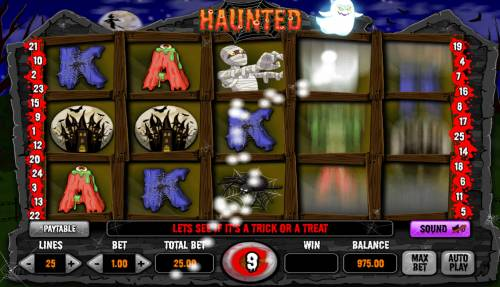 Haunted Review Slots Free Spins Game Board