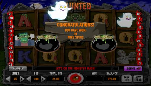Haunted Review Slots Free Spins Activated