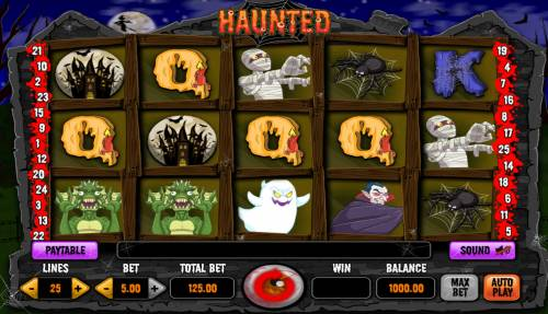 Haunted Review Slots Main Game Board