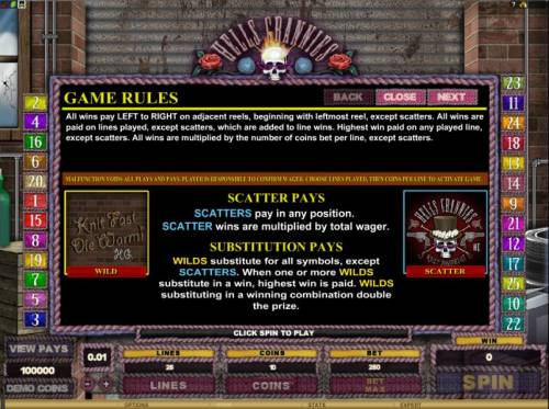 Hells Grannies Review Slots game rules, scatter pays and substitution pays