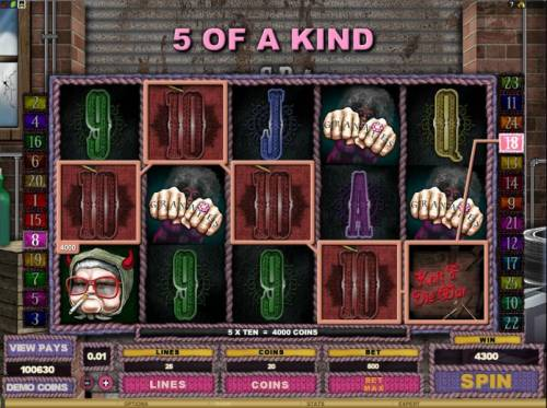 Hells Grannies Review Slots 5 of a kind pay out 4300 coins