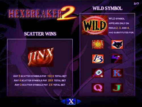 Hex Breaker 2 Review Slots Scatter symbol paytable and wild symbol rules.