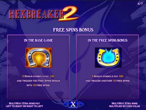 Hex Breaker 2 Review Slots Free Spins Bonus triggered by getting 5 horseshoe symbols