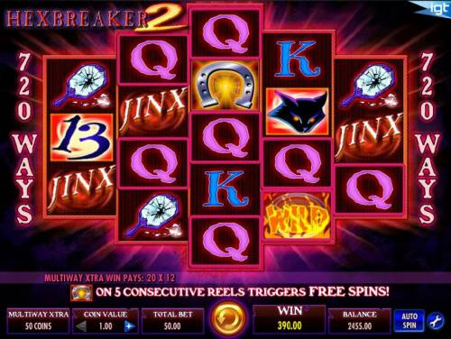Hex Breaker 2 Review Slots Multiple winning ways triggers a 390.00 big win.