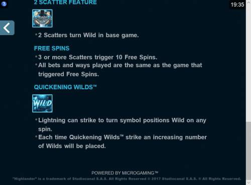 Highlander Review Slots Quickening Wilds Rules