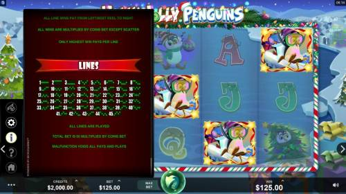Holly Jolly Penguins Review Slots Paylines 1-45