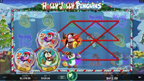 Holly Jolly Penguins Review Slots Multiple winning paylines triggers a big win