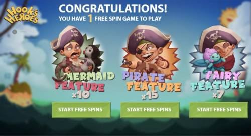 Hook's Heroes Review Slots Select the free spin feature you want to play