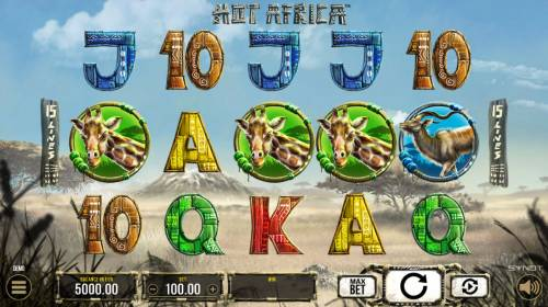 Hot Africa Review Slots Main Game Board