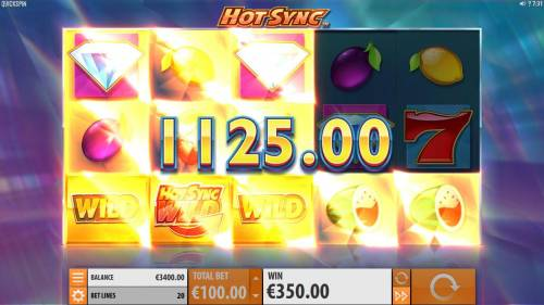 Hot Sync Review Slots Respin feature triggers an addtional 1125.00 big win. Landing an addtional Hot Sync Wild symbol triggers an additonal respin.