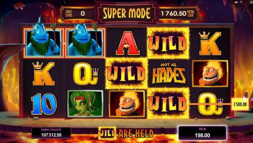 Hot as Hades Review Slots A 2,500 big win awarded during the Super Mode feature