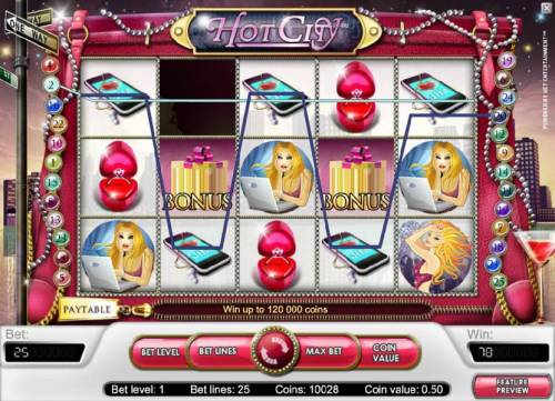 Hot City Review Slots multiple winning paylines triggers a 78 coin jackpot