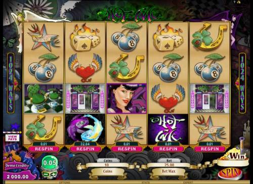 Hot Ink Review Slots main game board featuring 5 reels and 1024 ways